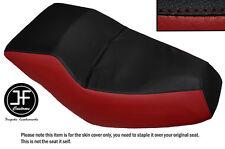 BLACK & DARK RED AUTOMOTIVE VINYL CUSTOM FITS HONDA HELIX CN 250 DUAL SEAT COVER