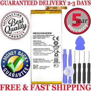BRAND NEW HUAWEI ASCEND P7 HB3543B4EBW LI- lON BATTERY 2460mAh + Free Tools Kit