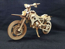 Láser de corte de madera Motocross Bike 3d model/puzzle Kit