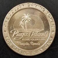 Players Island Resort Casino, Mesquite, NV, One Dollar metal gaming token, 37 mm