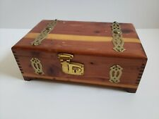 Vintage Wooden cigar box Treasure chest Factory Number 1295