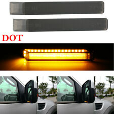 Dynamic Smoke For Ford F-150 04-14 LED Under Side Mirror Turn Signal Lights Lens