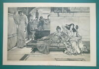 YOUNG LADIES Beauty Salon with Shrine of Venus - Victorian Era Print 14 x 22""