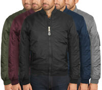 Men's Water Resistant Reversible Premium Padded USA Zip Up Flight Bomber Jacket
