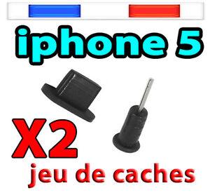Cache poussière noir Bouchon iPHONE  7 6 Plus 6 SE 5S/C iPAD 4 Air/mini iTOUCH 5