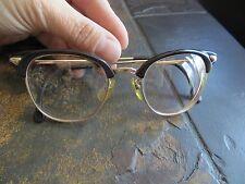 50-60s vintage 1/10 12k Gold-Filled Cat eye Brown/Gold Eyeglassesframe pre-owned