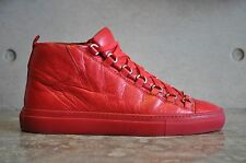 Balenciaga Arena Creased Leather High Top Sneakers - Red 5 UK 39 EUR