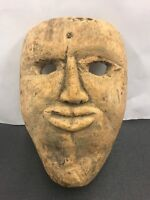 vintage Very old folk art hand carved wooden mask  Great Collectable WOW !!!