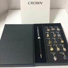 TOYOTA CROWN CROSS Ballpoint Pen Chronological Crown Ornament Set Limited F/S
