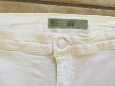 Moto Topshop Joni Skinny Jeans White High Waist 12 W30 L27 Fit L30 Free P&P