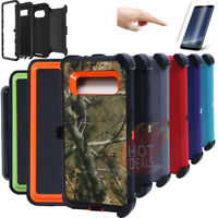 FOR SAMSUNG GALAXY Note 8 Rugged Armed Shockproof With Clip Case Cover