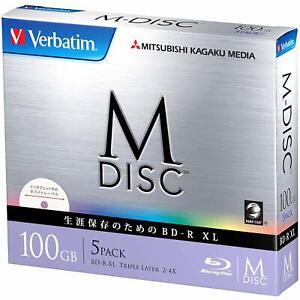 1000 Years Archival Verbatim M-Disc BDXL Inkjet Printable | 100GB 4x Speed | 5 P