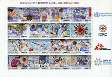 More details for guinea-bissau medical stamps 2020 mnh corona pandemic science health 12v m/s