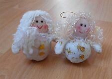 2 x Christmas Angel soft toy tree hangers