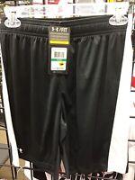 New Under Armour Black / White Threadborne Soccer Shorts Size Youth Large NWT