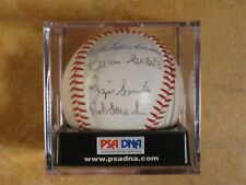 OZZIE SMITH RED SCHOENDIENST MULTI 18 SIGNED AUTOGRAPHED CARDINALS BALL PSA/DNA
