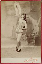 La Belle Géraldine, Circus, Trapeze, Nouveau Cirque, Cabinet card, Photo Nadar