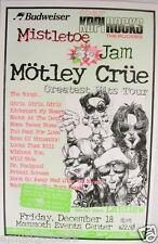 """MOTLEY CRUE """"GREATEST HITS TOUR"""" 1998 DENVER CONCERT POSTER - Mistletoe Jam"""