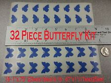 32 Butterfly Butterflies Removable Wall Decor Art Vinyl Decal Stickers *COLORS*