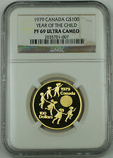 1979 Canada $100 Dollars Gold Coin, NGC PF-69 UC, Year of the Child