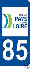 1 Sticker plaque immatriculation adhésif département 85