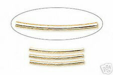Tube Spacer Beads Gold Curved 21mm Jewelry Findings Lot of 30