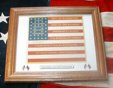 American 33 star Flag, Civil War Flag....California Hundred 100 Cavalry