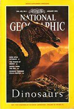 NATIONAL GEOGRAPHIC MAGAZINE JANUARY 1993- DINOSAURS