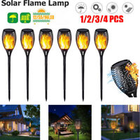 96 LED 4 Pack Solar Torch Lights Flickering Lighting Dancing Flame Garden Lamp