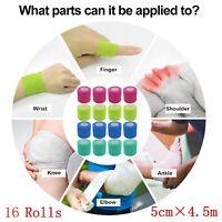 16 Rollen selbstklebend Bandage Vliesverband Erste-Hilfe Bandage 5 cm * 4,5 m