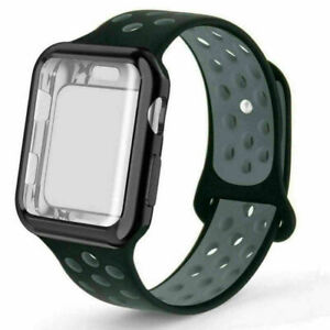 Screen Protector Strap Band Protective Case For Apple Watch Series 3 4 5 6 SE