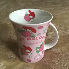 RARE Sanrio 2010 My Melody Pink Strawberries Mug Cup Hello Kitty's Friend