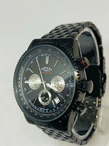 Rotary Gents Watch GB03778/04 Multi Dial Chronospeed Bracelet