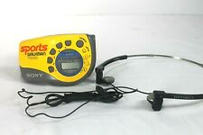 Sony SRF-M78 FM AM Walkman Radio With Arm Band And Headphones Tested Works!