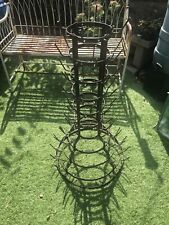 More details for french rigidex tall wrought iron wine bottle drier metal drying stand bargain