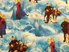 DISNEY Frozen Characters Fabric Anna, Elsa, Kristoff, Sven-to, Olaf 100% Cotton