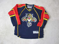 Reebok Florida Panthers Jersey Youth Extra Large Blue Red SEWN NHL Boys Kids