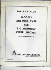 Allis Chalmers 410 Pull Type Amp 610 Mounted Chisel Plows Parts Catalog Manual