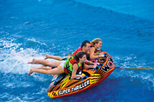 WOW Super Thriller 1-3 Rider Inflatable Water Deck Tube Boat Towable 18-1020
