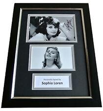 Sophia Loren Signed A4 FRAMED Photo Autograph Display Hollywood Film & COA
