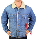 NEW LEVI'S MEN PREMIUM CLASSIC BUTTON UP FUR DENIM JEANS JACKET 705200238 SIZE L
