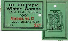 Olympic Winter Games Olympische Spiele 1932 Eintrittskarte Ticket Olympia