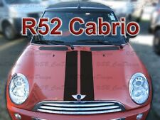 Viper-Streifen Aufkleber Rally Stripes f. BMW MINI COOPER R52 Cabrio Works Union