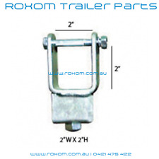 """Boat Trailer Bracket. 2"""" X 2"""" / 50mm x 50mm Tube Side Adjuster. Clamp On Style."""