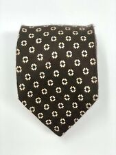 WATCH HILL BY BERKLEY Floral Print Mens Neck Tie - Brown