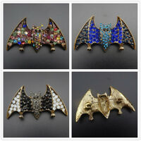 Betsey Johnson Multi-Color/Blue/Black Crystal Rhinestone Cute Bat Brooch Pin