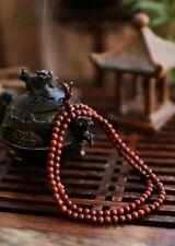 India Lobular Red Sandalwood 108 6MM Buddhist Prayer Bead Mala Bracelet/Necklace