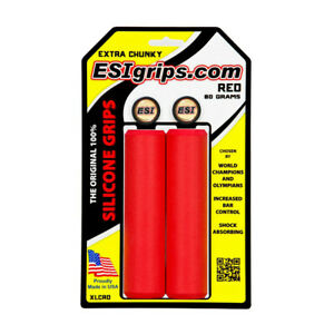 NEW ESI EXTRA CHUNKY Silicone MTB Handlebar Grips : RED
