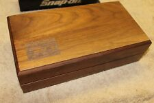 SNAP-ON 70th Anniversary  24K Gold Wooden Box  NO TOOLS  (EMPTY BOX ) ONLY BOX