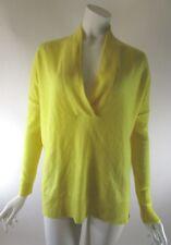 RALPH LAUREN BLUE LABEL Yellow Italian Cashmere V-Neck Dolman Sweater S